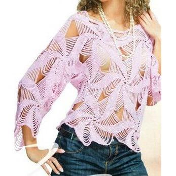 Pink crochet summer women crochet blouse - MADE TO ORDER - Crochet clothes