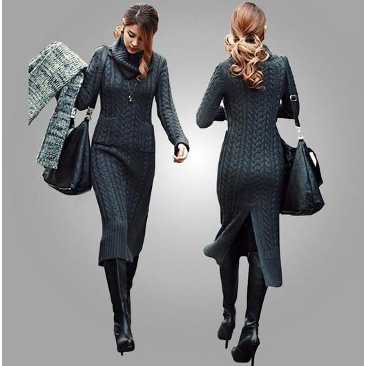 Knitted dress - Crochet clothes