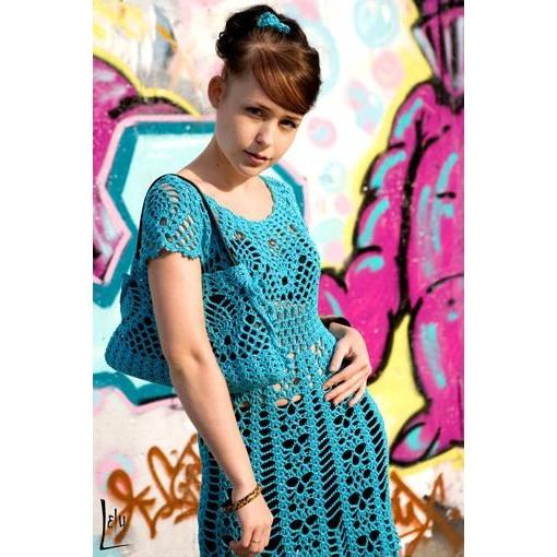 PDF Pattern only - a crochet summer mini crochet dress - Digital file - AsDidy fashion