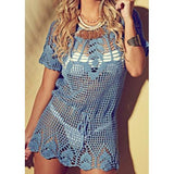 Crochet women summer mini dress - AsDidy fashion