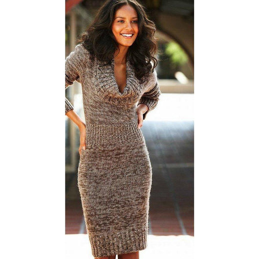 Knitted  women dress - AsDidy fashion