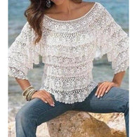Handmade crochet cute summer women crochet blouse - MADE TO ORDER - Crochet clothes
