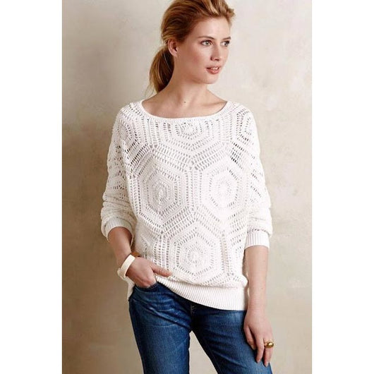 White crochet top pattern - PDF Pattern only - AsDidy fashion