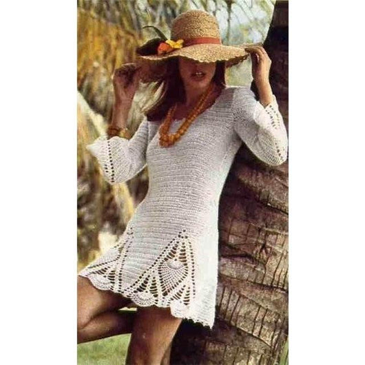 PDF Pattern only - a crochet spring/summer boho crochet dress - Digital file - Crochet clothes