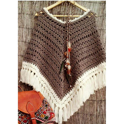 Winter crochet poncho - Crochet clothes