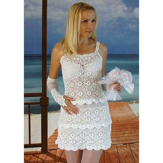 Wedding crochet mini dress - AsDidy fashion