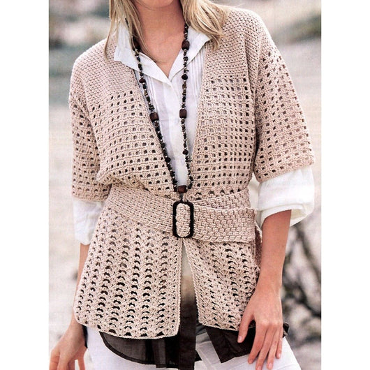 Crochet cardigan pattern, jacket - PDF Pattern only - AsDidy fashion