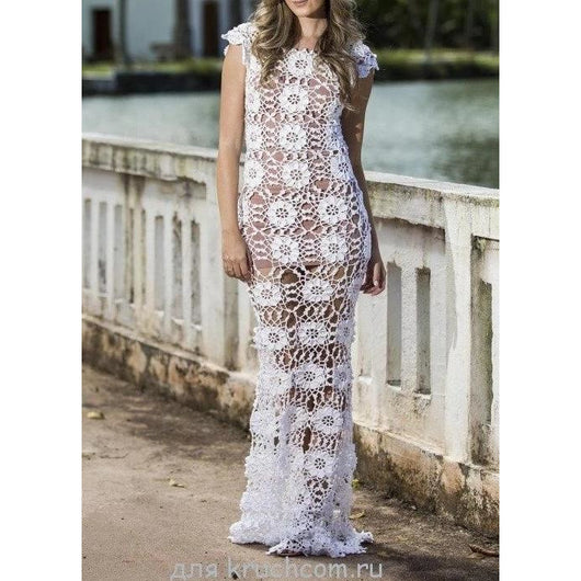 Crochet summer wedding handmade bridal dress - Made to order - AsDidy fashion