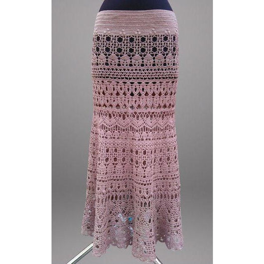 Pink crochet maxi skirt - Made to order - Crochet clothes