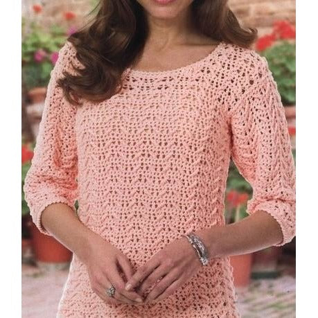 Pink crochet sweater pattern - PDF Pattern only - Crochet clothes