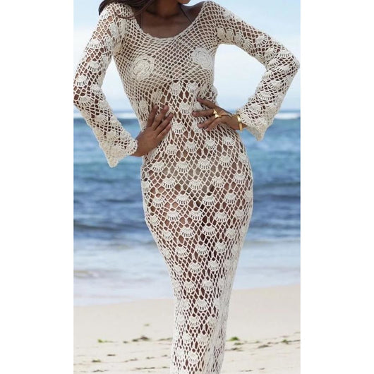 White crochet maxi dress - Crochet clothes