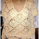 Boho crochet top pattern - PDF Pattern only - Crochet clothes