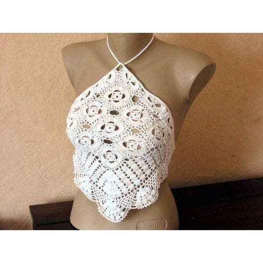 Crochet crop top, handmade summer tcrop top, top crop made to order - Crochet clothes
