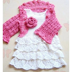 White Crochet Baby Dress - Crochet clothes