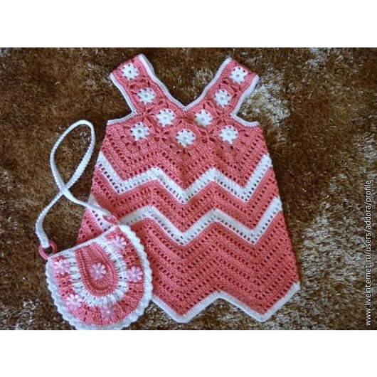 Crochet Baby Set Baby Dress And A Cute Purse Crochet Clothes