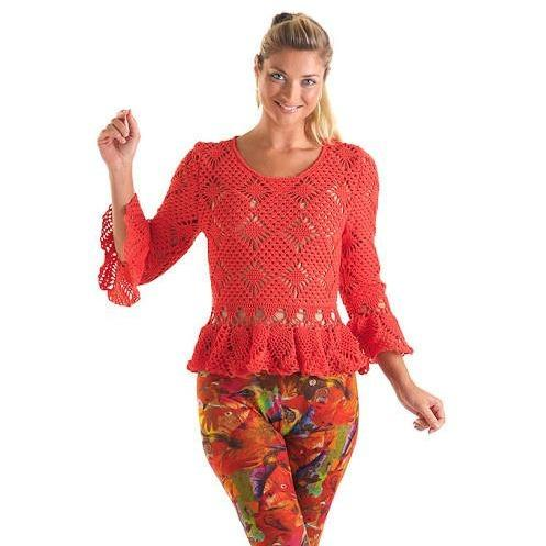 PDF Pattern only - a crochet spring/summer fashion crochet blouse - Instant download! - AsDidy fashion