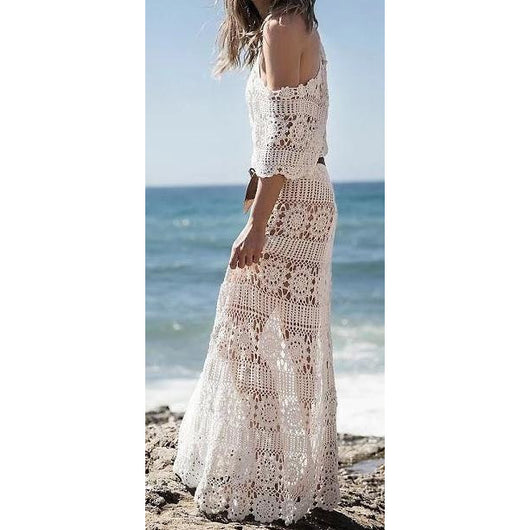 Crochet beach maxi dress - Crochet clothes