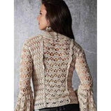 Handmade crochet blouse, bell sleeves - FREE SHIPPING - AsDidy fashion