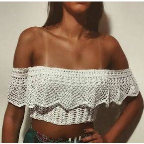 Crochet summer crop top, handmade summer top, top crochet, crop top, crochet lace top, top crop crochet, lace top, made to order - Crochet clothes