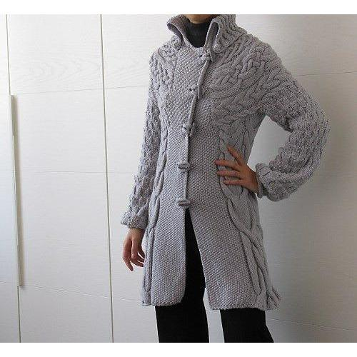 Knitted long women cardigan - AsDidy fashion
