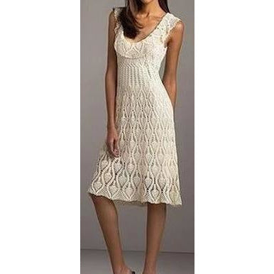 Off white crochet summer dress - AsDidy fashion