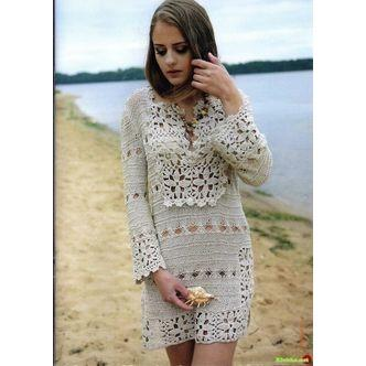 Off white crochet dress - AsDidy fashion