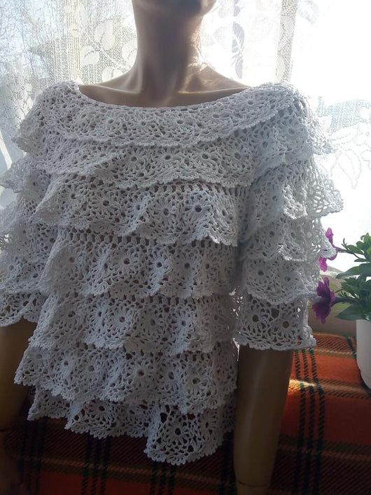 Elegant summer sweater crochet pattern