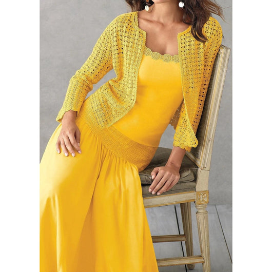 Yellow crochet  cardigan - AsDidy fashion
