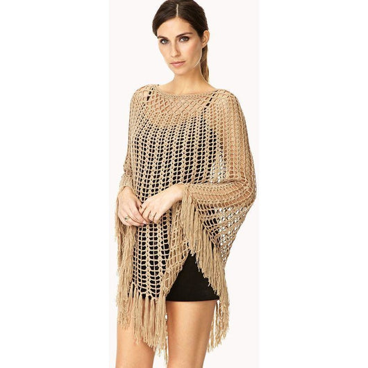 Elegant crochet poncho - Crochet clothes