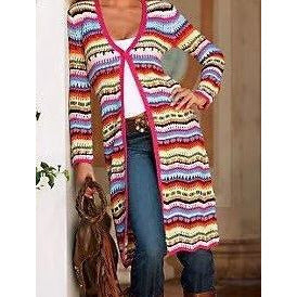 Cable Knit  women long cardigan - Crochet clothes