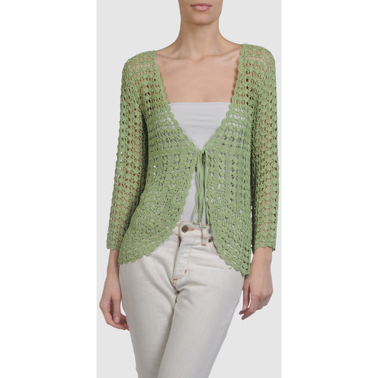 Green crochet  cardigan - AsDidy fashion