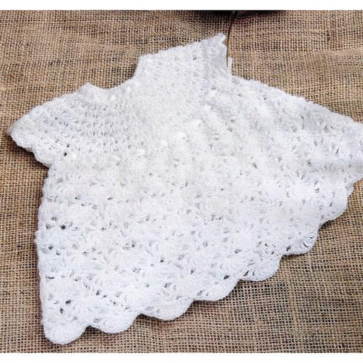 White Baby Crochet Dress - Crochet clothes