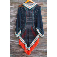 Boho Crocheted Poncho