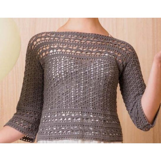 Beige crochet top pattern - PDF Pattern only - Crochet clothes