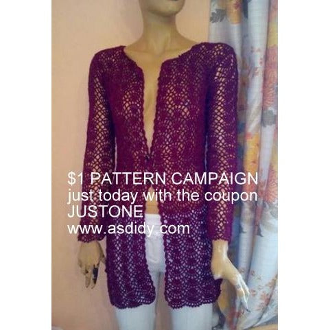 $1 PATTERN CAMPAIGN WITH THE COUPON JUSTONE - Crochet clothes
