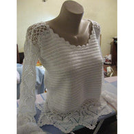 White crochet sweater - Crochet clothes