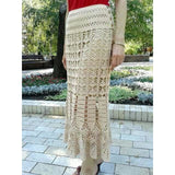 Cream crochet maxi skirt - Made to order - Crochet clothes