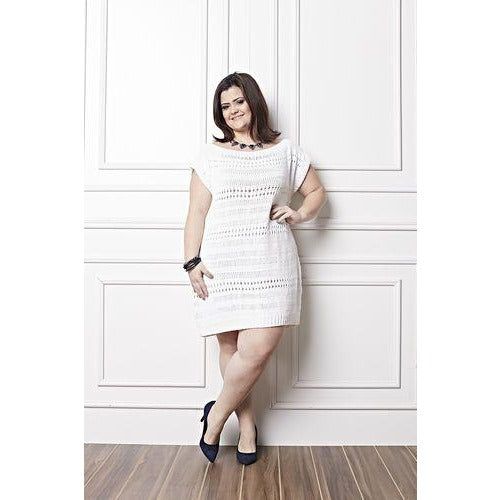 White Plus size crochet dress - AsDidy fashion
