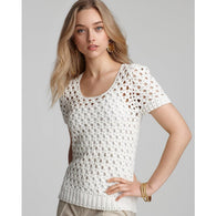 White crochet summer top - AsDidy fashion