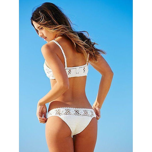 White crochet swimsuit two pieces - Crochet clothes