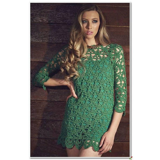 Beautiful crochet women summer mini dress, party dress, cocktail dress - AsDidy fashion