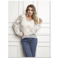 Handmade crochet blouse- FREE SHIPPING - AsDidy fashion