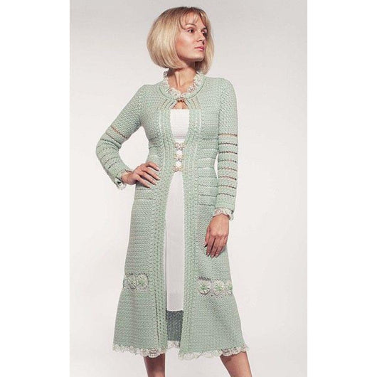 Crochet trendy women long cardigan - Crochet clothes