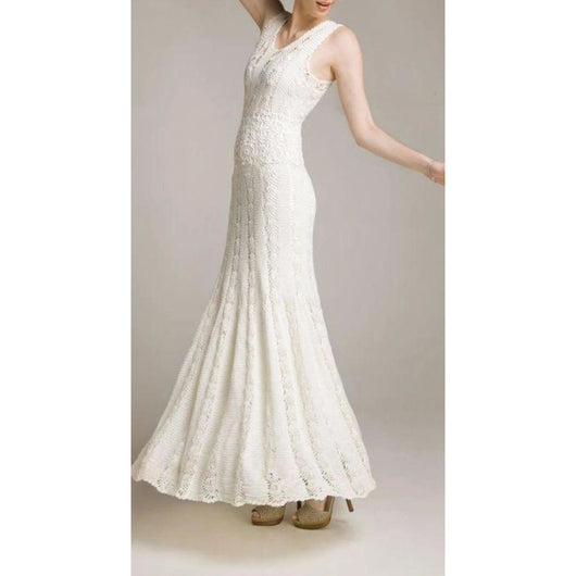 Elegant handmade crochet long wedding women dress -Replica - Made to order - Crochet clothes