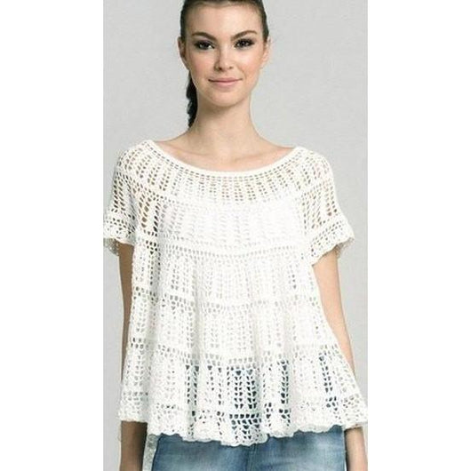 Handmade crochet cute summer women crochet blouse - MADE TO ORDER - AsDidy fashion