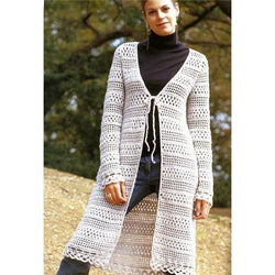Pattern only - a crochet spring/summer/fall long cardigan - AsDidy fashion