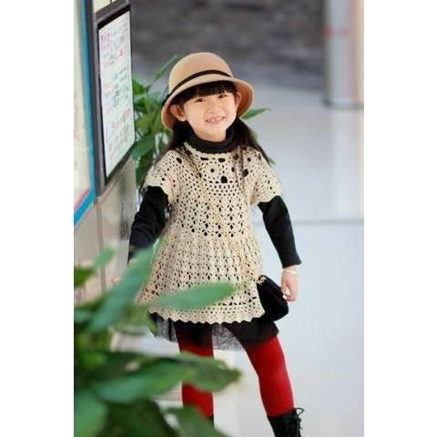 Handmade crochet summer girls dress, Pattern only, in different sizes, written in English, with pictures of the proccess of crocheting - Crochet clothes