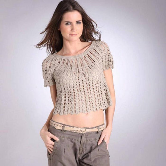 Crochet pattern women crop top, jumper, Pattern only, different sizes, written in English, with pictures of the proccess of crocheting - AsDidy fashion