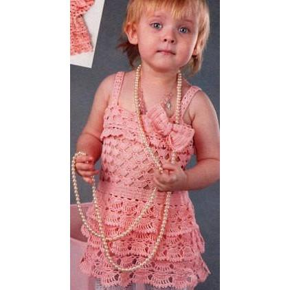 Handmade crochet summer girls dress, Pattern only, different sizes, written in English, with pictures of the proccess of crocheting - AsDidy fashion