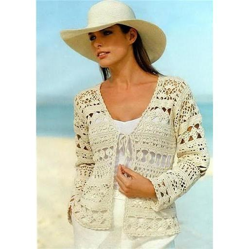 Pattern only - crochet women summer jacket, cardigan, Pattern only, different sizes, written in English - AsDidy fashion